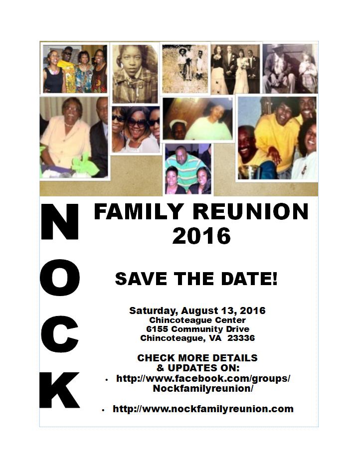 Nock Family Reunion Flyer | Nock Family Reunion